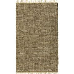 "Brown Leather & Hemp Matador 30""x50"" Rug with Free Shipping!"