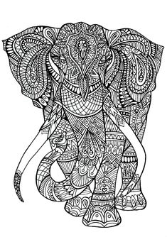 Elephant patterns - A big Elephant full of details. From the gallery : Elephants. Just Color : Discover all our printable Coloring Pages for Adults, to print or download for free ! Abstract Coloring Pages, Detailed Coloring Pages, Pattern Coloring Pages, Online Coloring Pages, Printable Adult Coloring Pages, Cool Coloring Pages, Mandala Coloring Pages, Animal Coloring Pages, Coloring Pages To Print