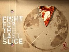 These ads from Pizza & Love. Created by Contrapunto, Barcelona, the art direction really is stunning. For those of you who don't know, Pizza & Love are an actual Pizza place who are very environmentally-conscious. Stück Pizza, Pizza Art, Love Pizza, Pizza Bowl, Restaurant Advertising, Restaurant Marketing, Pizza Restaurant, Pizza Branding, Branding Ideas