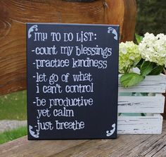 "MOTHER'S DAY GIFT! 11x14  ""My to-do list""  Hand painted and stamped with acrylic on canvas by Houseof3"