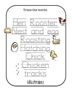 chicken worksheets - Google Search | Chicken Unit | Pinterest ...