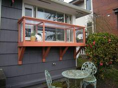 Window Box DIY Catio Plans by Catio Spaces #cadioideas #catsdiywindow