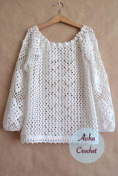 Crochet lace top - pattern 1