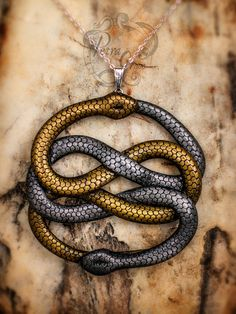Neverending Story Auryn Pendant by PetraGraceDesigns on Etsy