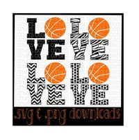 Love Basketball Mix & Match Cutting File - SVG PNG JPEG Files - Silhouette Cameo/Cricut by CorbinsCloset on Etsy