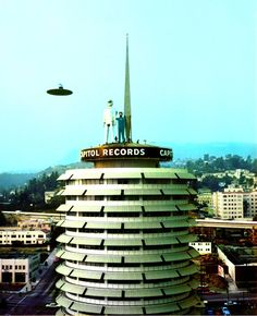 Ringo Starr recorded , Only You (And You Alone),promo video, filmed atop the Capitol Records building in Los Angeles in mid-November 1974. John plays acoustic guitar,Harry Nilsson,  harmony with Ringo. The album cover for Goodnight Vienna is taken from a still photo from the 1951 science fiction film The Day The Earth Stood Still which includes the flying saucer and giant silver robot Gort, both of which are replicated in this amusing promo. This post is on honor of Ringo's birthday today