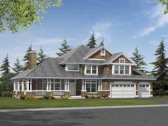 Eplans Craftsman House Plan - Sunken Family Room Defined by Columns - 4835 Square Feet and 4 Bedrooms(s) from Eplans - House Plan Code HWEPL64053