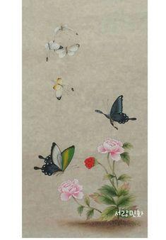 화접도 : 네이버 블로그 Korean Painting, Floral Embroidery Patterns, Vintage Botanical Prints, Korean Art, Old Paintings, Art Pictures, Painted Rocks, Folk, Butterfly