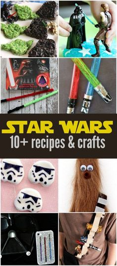 So many fun Star Wars Recipes and Crafts - perfect for #ForceFriday and your Star Wars loving friends!