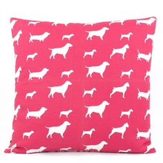 Dog Days of Summer Reversible Pink Pillow - Chloe & Olive