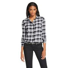Women's Flannel Shirt Black - JACHS Manufacturing Co. - SMALL