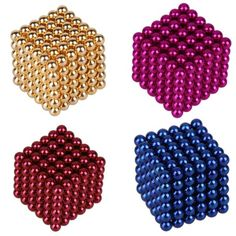 Neodymium Magnetic Balls Spheres Beads Magic Cube Puzzle (Colors)