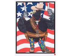 "Art card "" All American Rootin' Tootin' Shootin' Coot""   by CatherineMcElroyCard"