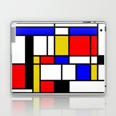 Art work inspired to P. Mondrian (n.1) Laptop & iPad Skin by THE USUAL DESIGNERS - $25.00
