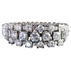 CARTIER LONDON Magnificent Brilliant & Baguette Diamond Bracelet