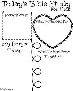 Bible Lesson Worksheets | Tagua