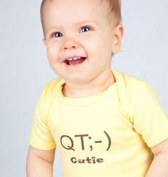 QT Baby Onesie  www.SpecialBabyShowerGifts.com