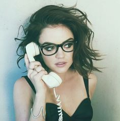 Listen to Lucy Hale Radio, free! Stream songs by Lucy Hale & similar artists plus get the latest info on Lucy Hale! 2015 Hairstyles, Curly Bob Hairstyles, Hairstyles Pictures, Quick Hairstyles, Pretty Little Liars, Cut Her Hair, Hair Cuts, Lucie Hale, Geek Chic Glasses