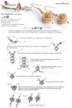 Free pattern for this beautiful earrings - Thanks to Un-Roen Manarata - Elfenatelier