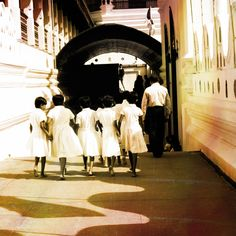 The Temple of the Tooth is a popular day trip for school children from all over Sri Lanka