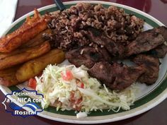 Carne asada Y Gallo Pinto - Nicaragua