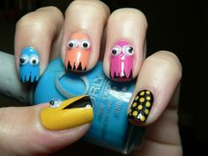 Pacman Inspired Nails