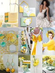 Mint Green + Yellow Color Inspiration Board