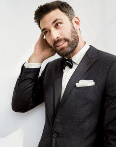 Thomas Mason® for J.Crew Ludlow bib tuxedo shirt and J.Crew Italian wool flannel jacket in charcoal