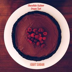 I Quit Sugar: Chocolate Cashew Cream Tart