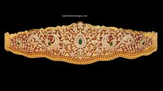 Bridal gold with diamonds vaddanam designs - Fashion Beauty Mehndi Jewellery Blouse Design Diamond Jewelry, Gold Jewelry, Vaddanam Designs, Indian Gowns Dresses, Gold Models, Gold Designs, Jewelry Boards, India Jewelry, Bridal Jewellery