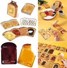 """""""Toast playing cards"""" Oh these are so cute!!"""