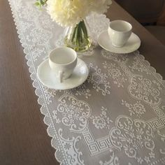 Downton Abbey® Grantham Collection Lace Table Runner - BedBathandBeyond.com