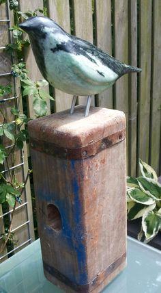 Een vogel van Braziliaans speksteen.