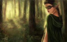 Green Fantasy Mask Art | ... Woman, beautiful, fantasy, forest, green, mask, mysterious, woman