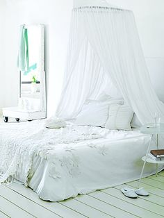 Klamboe bedhemel mosquito net bed canopy on pinterest mosquito net tent and canopies - Baby slaapkamer deco ...