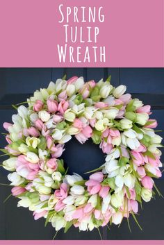 Ive got the winter blues - ready for spring!!!  Spring Wreath- Door Wreath- Easter Wreath- Easter decor, Tulip Wreath- Sizes 16-26 inches, custom colors - The Original Tulip Wreath, home decor #ad