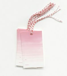 Ombré Gift Tags -- while these aren't DIY, they are great inspiration for watercolor gift tags!