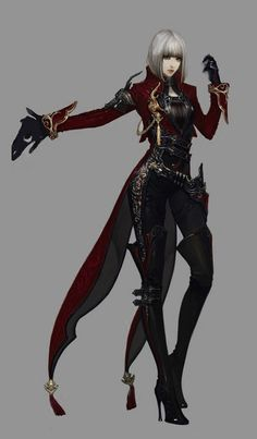 her Guardian suit, original from Aion character inspiration Female Character Design, Character Design Inspiration, Character Concept, Character Art, Concept Art, Dnd Characters, Fantasy Characters, Female Characters, Character Portraits
