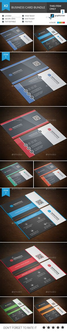 This is a 2 in 1 Business Card Bundle. This template is 300 dpi print-ready CMYK 02 PSD files. All main elements are easily editab