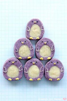 Penguin Icebox Cookies. So cute!