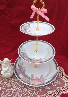 Wedding Cake Stand 3 Tier Serving TrayFine China Sale | Etsy 3 Tier Cake Stand, Tiered Stand, Wedding Cake Stands, Unique Wedding Cakes, 3 Tier Serving Tray, China Sale, Dessert Aux Fruits, Cake Platter, New Cake