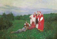 A Northern idyll, 1886, Konstantin Korovin. #russia #art #drawing #korovin
