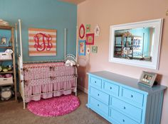 Coral & Teal Twin Nursery