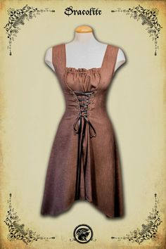 Medieval clothing Charlotte Dress prom wedding half by Dracolite, $120.00