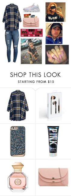 """""""You and bae Going to your little cousin basketball game❤️"""" by kaelynjones05 ❤ liked on Polyvore featuring Monki, NIKE and Tory Burch"""