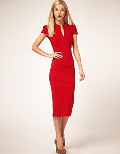 """ASOS Midi Pencil Dress with Zip  (such funny names... shouldn't it always have a """"zip"""" ??)"""