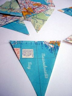 I have acquired many vintage maps from various US cities and states and can make custom map garlands from them. Select from the list below and