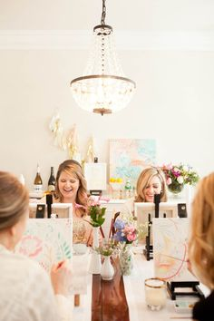 There are plenty of fun bachelorette party ideas that you can implement into your bash. Let the bride get wild one last time before her big day. Spa Bachelorette Parties, Bachelorette Party Decorations, Bridal Shower Decorations, Bachelorette Party Activities, Wine Painting, Diy Wedding Projects, Wedding Ideas, Wedding Colors, Diy Projects