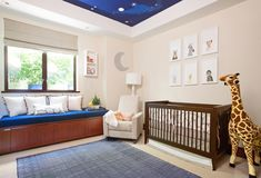 Modern and Whimsical Boy's Nursery from @littlecrownint - love the animal accents!