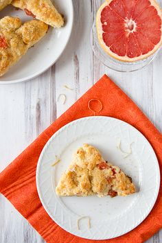 Grapefruit scone!  I just made this recipe and added a basil glaze on top while they were warm.  So good!